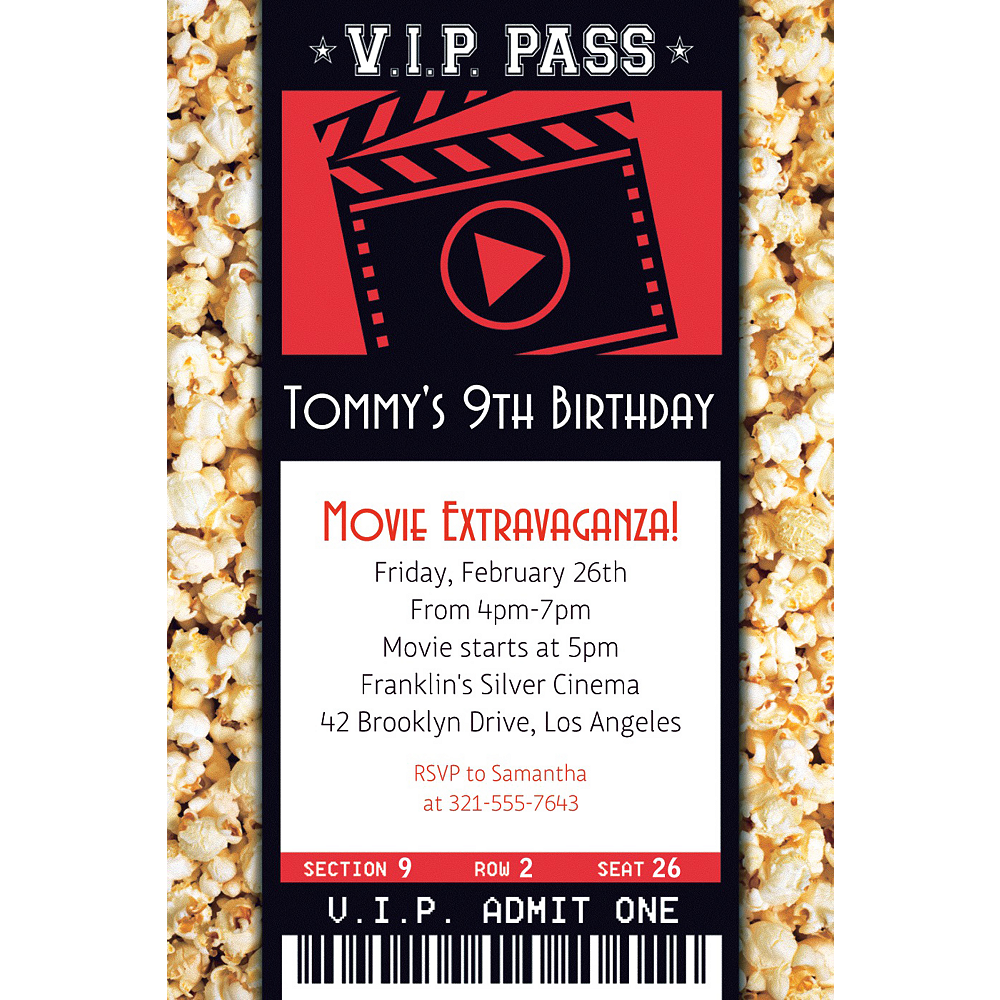 custom movie ticket invitation party supplies party city