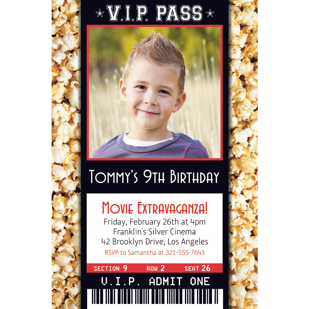 Nav Item for Custom Movie Ticket Photo Invitation Image #1