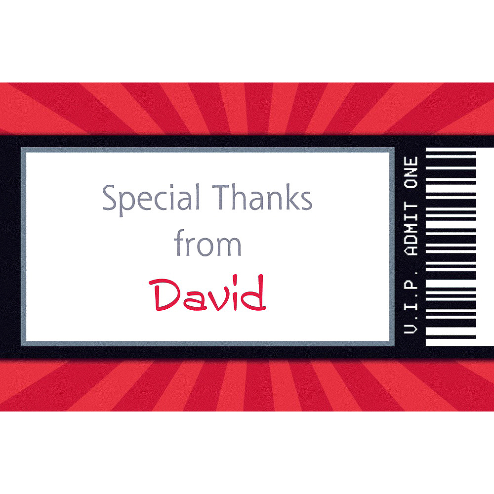 Custom Karate Ticket Thank You Note  Image #1