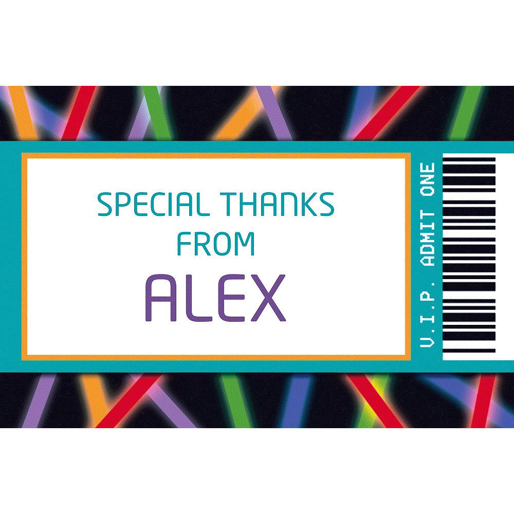 Custom Arcade Ticket Thank You Note Image #1