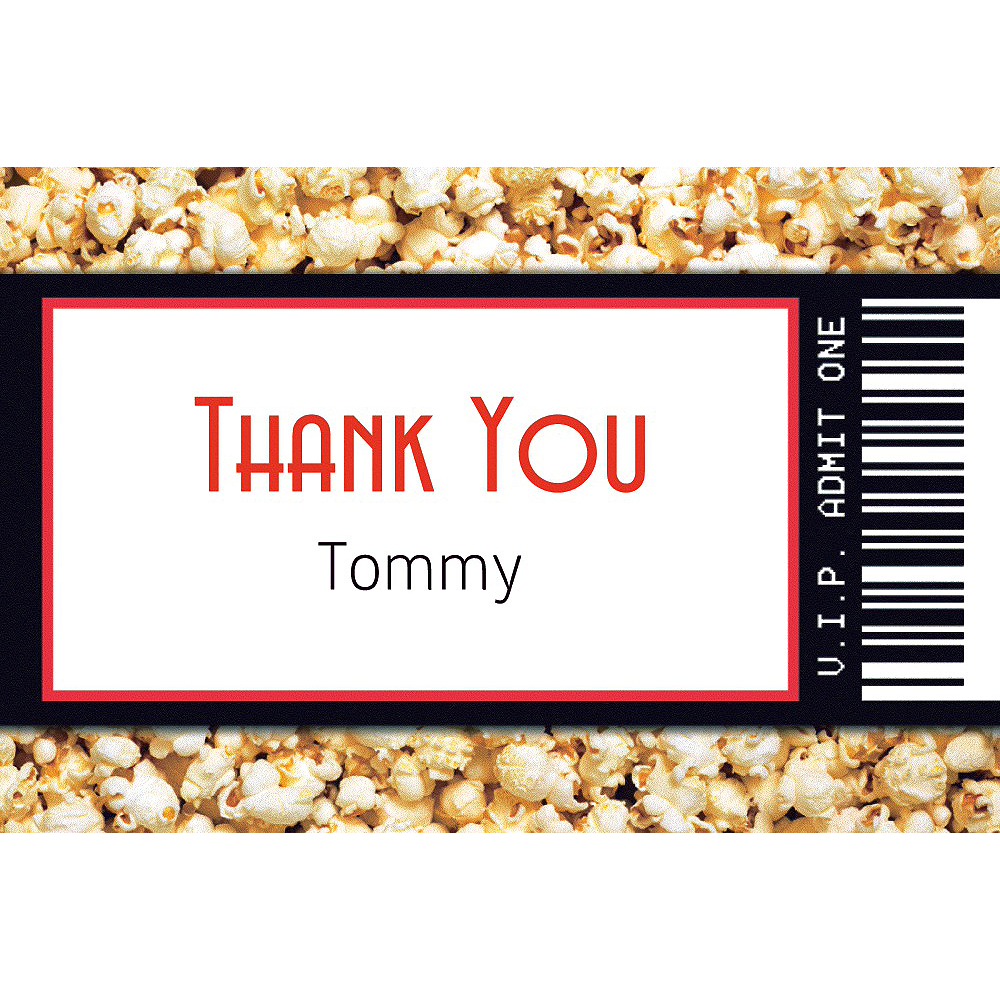 Custom Movie Ticket Thank You Note Image #1