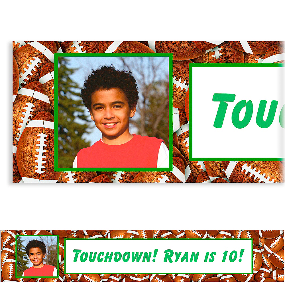 Custom Football Ticket Photo Banner Image #1