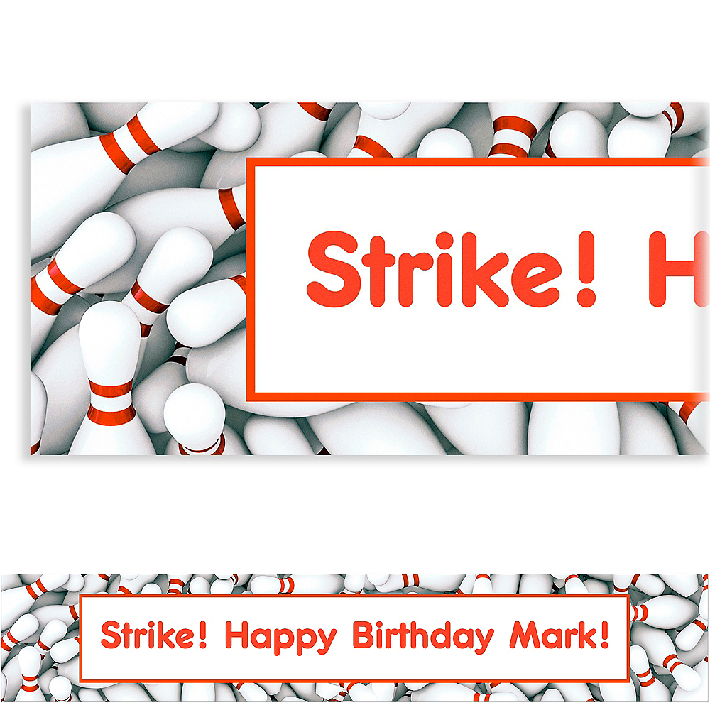 Custom Bowling Ticket Banner Image #1