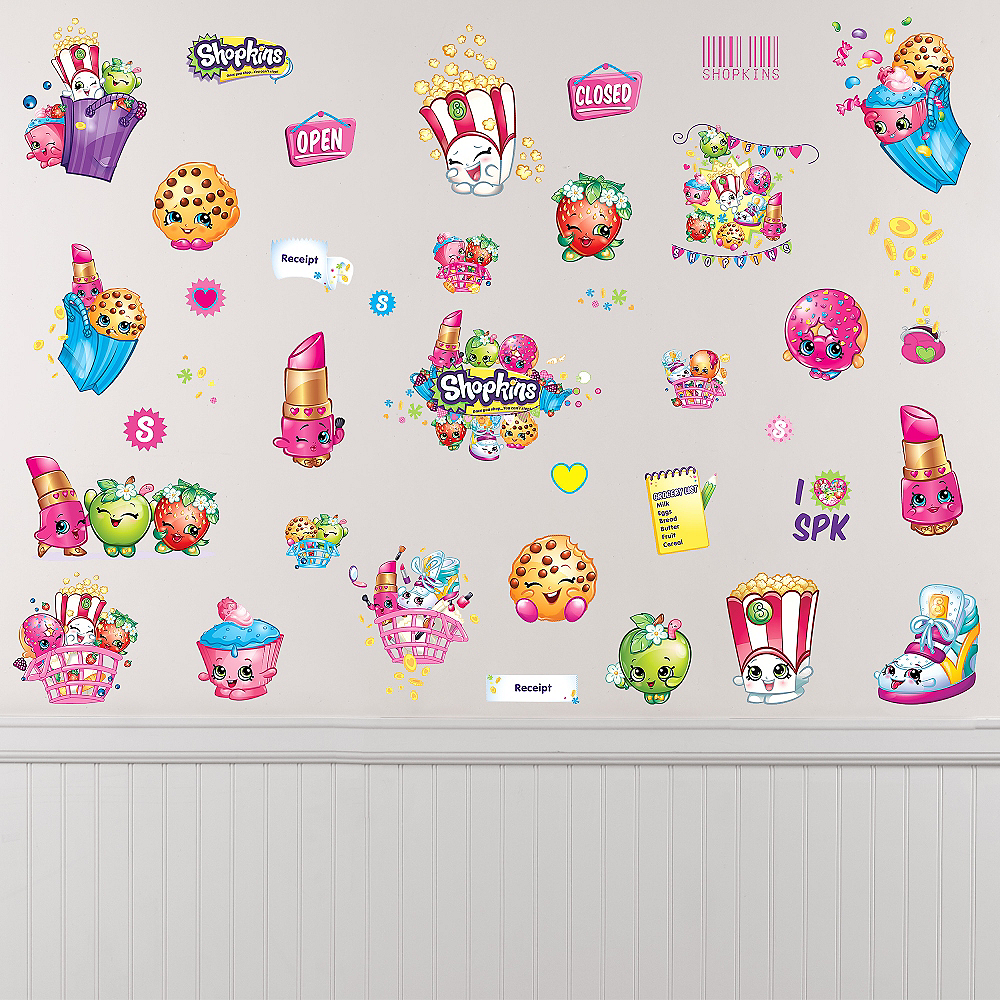 Shopkins Wall Decals 39ct Image #1