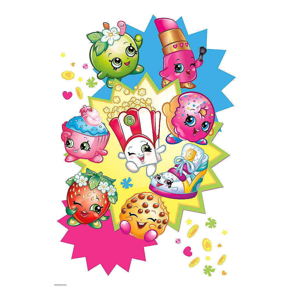 Giant Starburst Shopkins Wall Decal Image #2