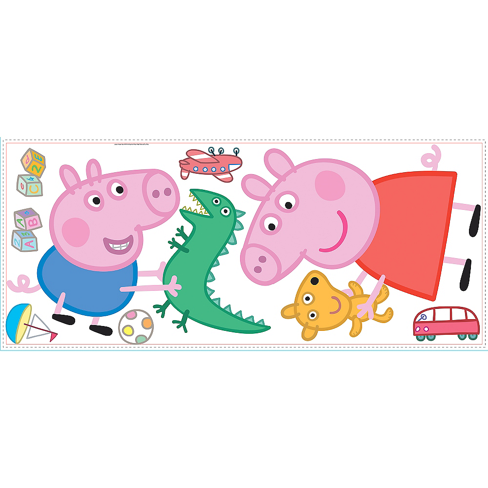 Nav Item for George & Peppa Pig Wall Decals 8ct Image #2