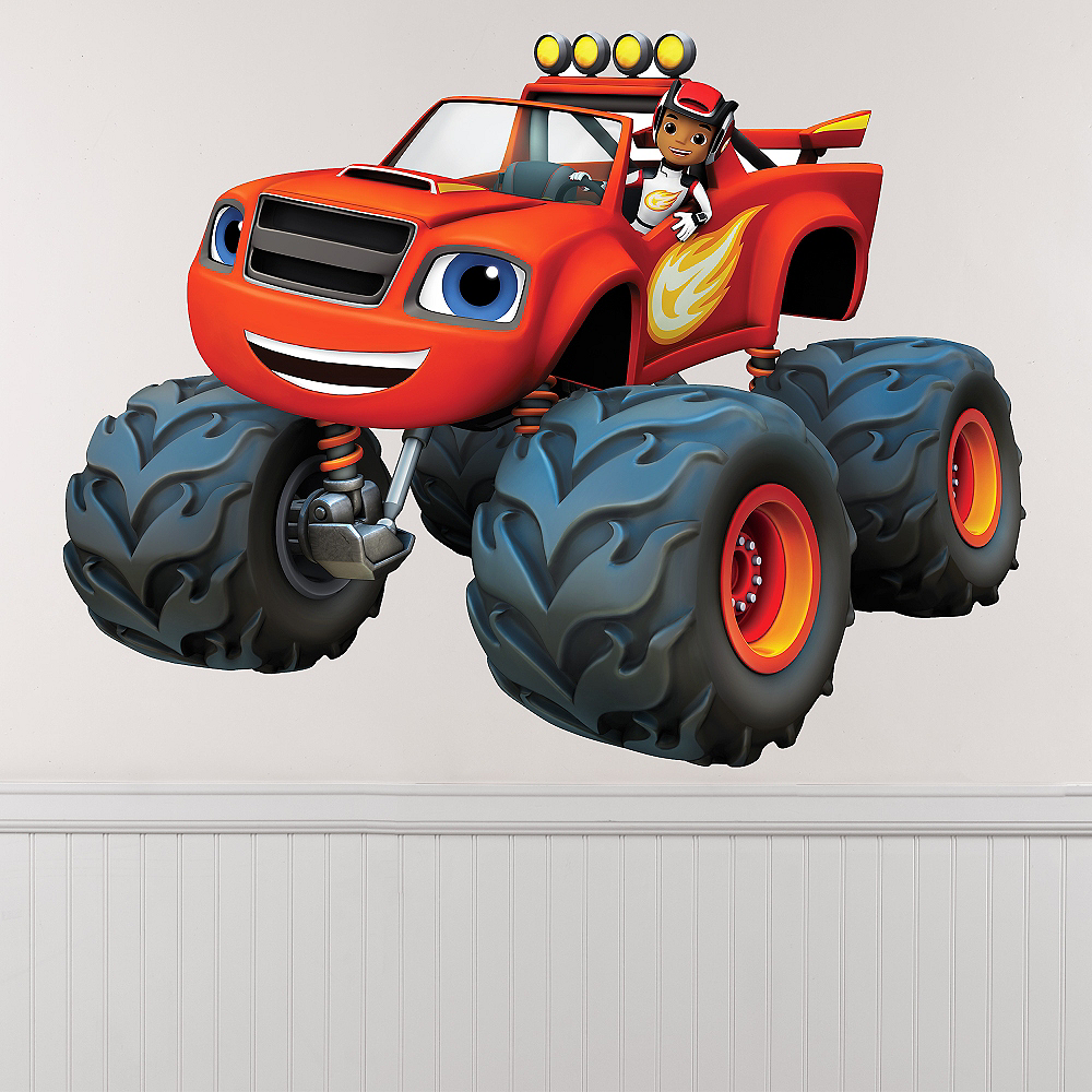giant aj blaze wall decals 12ct blaze and the monster machines