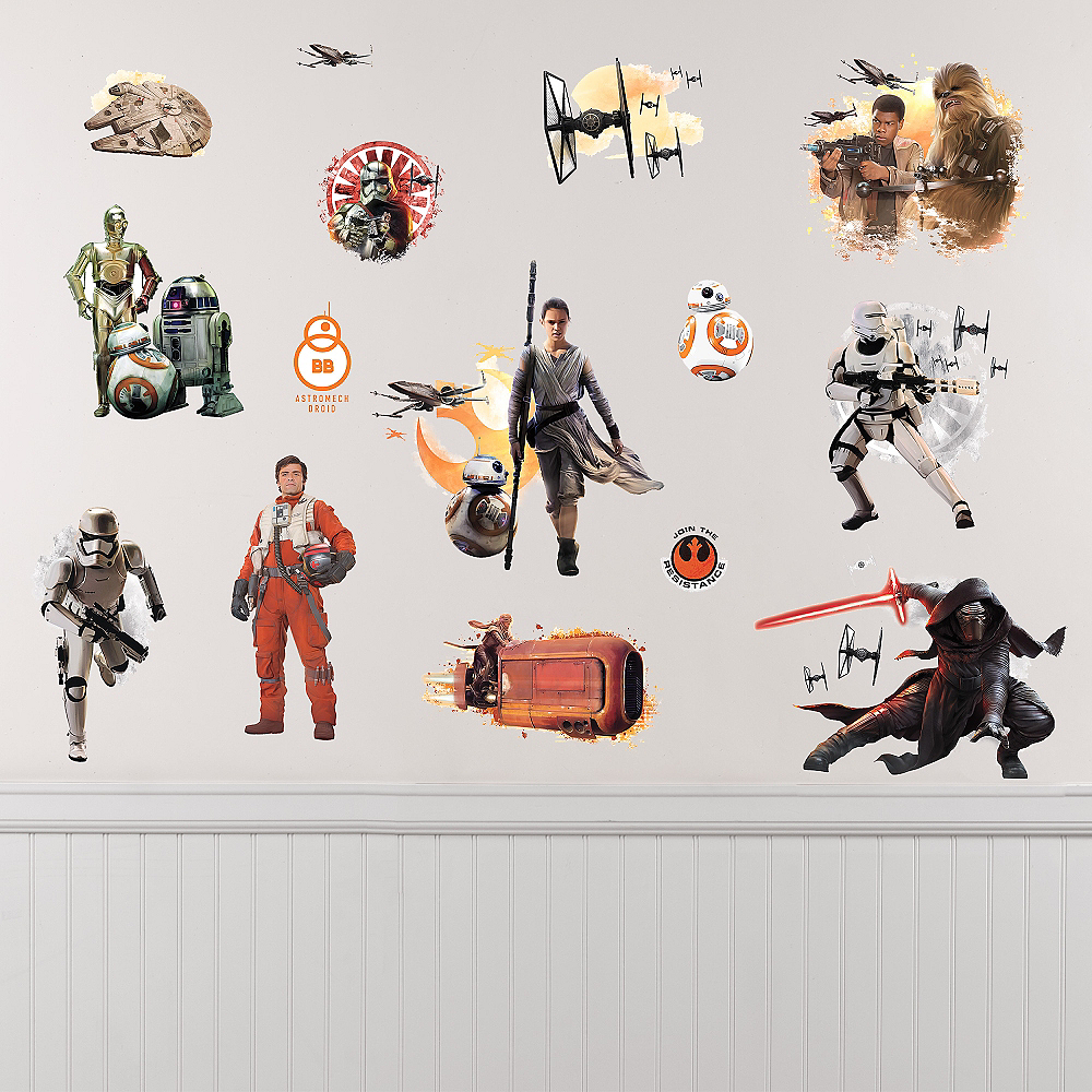 Star Wars 7 The Force Awakens Wall Decals 15ct Image #1