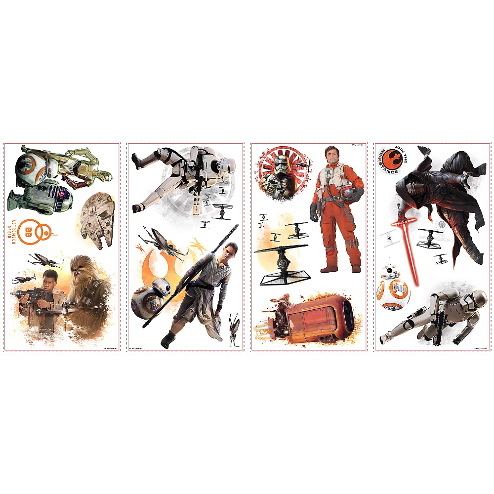 Star Wars 7 The Force Awakens Wall Decals 15ct Image #2