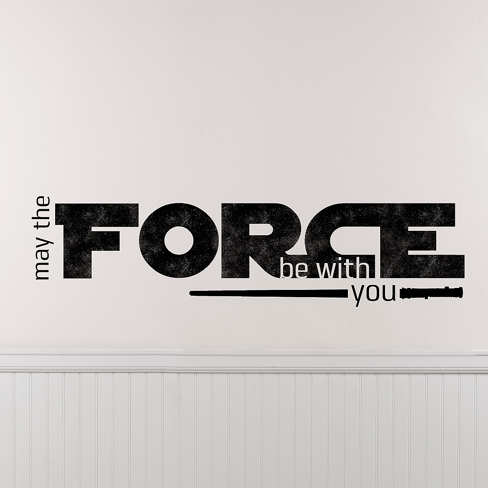 May the Force Be With You Star Wars Wall Decals 6ct Image #1