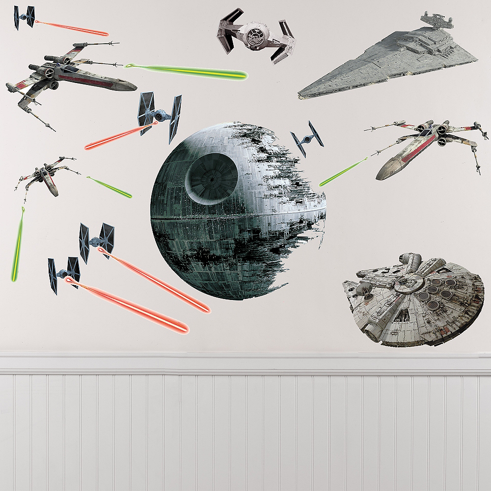 Star Wars Spaceships Wall Decals 21ct Image #1
