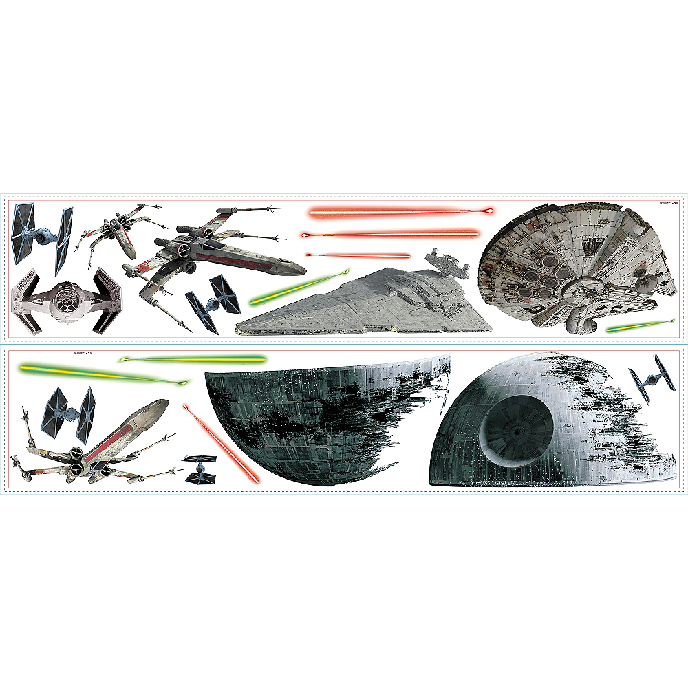 Star Wars Spaceships Wall Decals 21ct Image #2