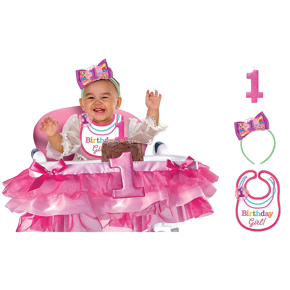 Rainbow 1st Birthday Girl Smash Cake Kit Image #1