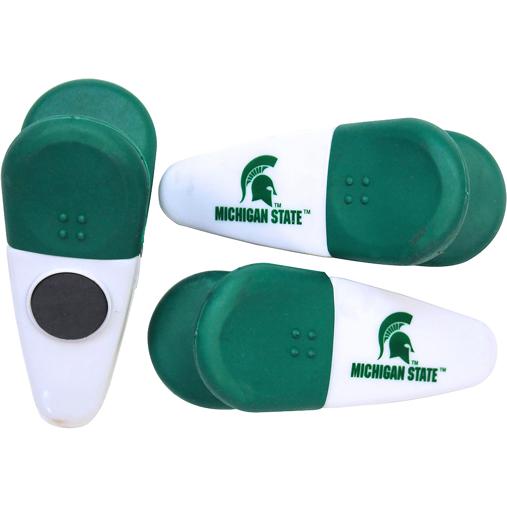 Michigan State Spartans Magnetic Bag Clips 3ct Image #1