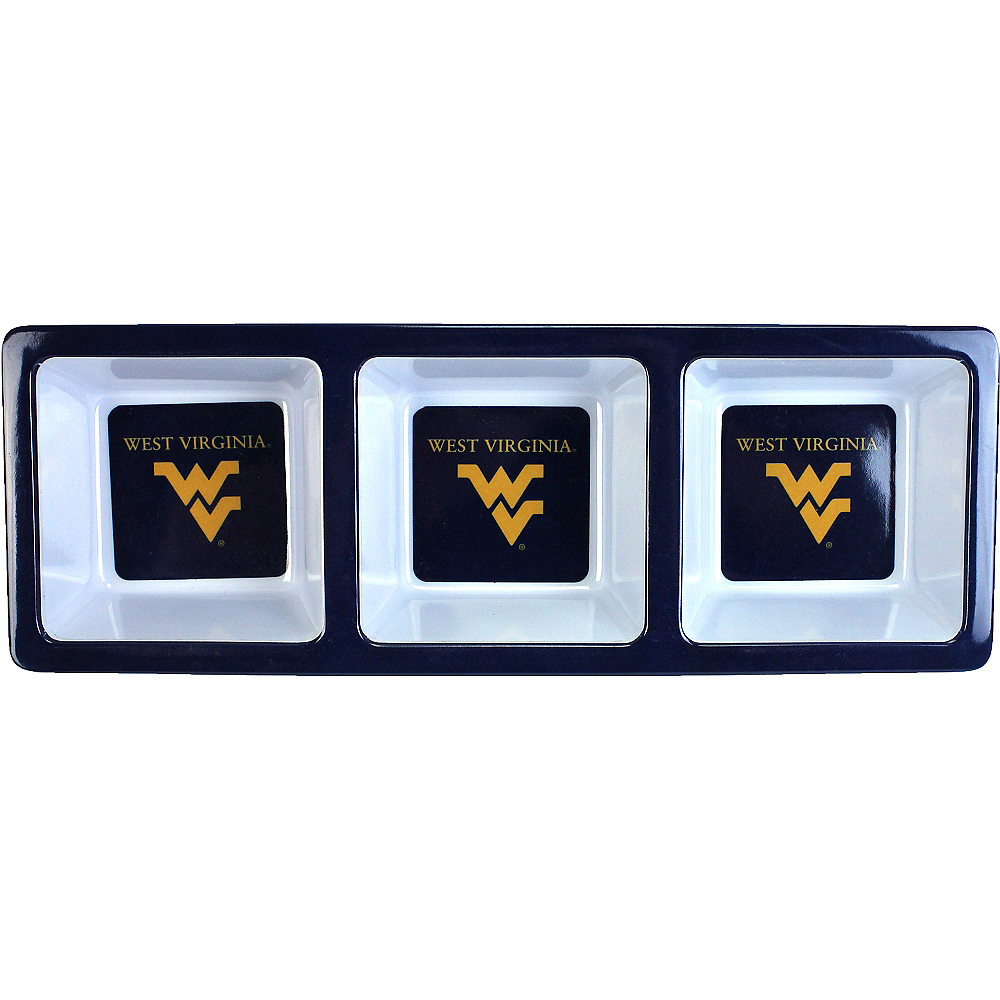 Nav Item for West Virginia Mountaineers Divided Snack Tray Image #1