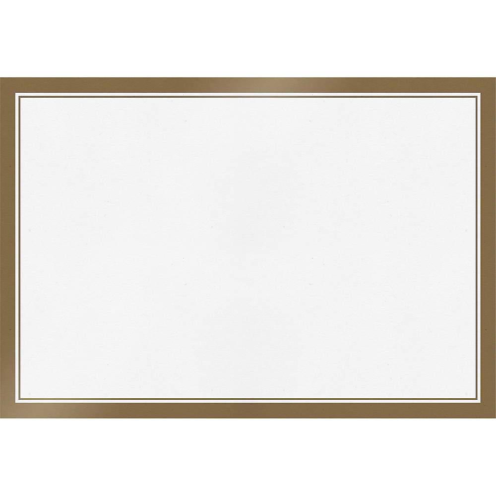 White Gold Trimmed Paper Placemats 24ct Image #1