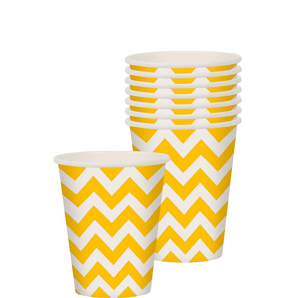 Sunshine Yellow Chevron Paper Cups 8ct Image #1