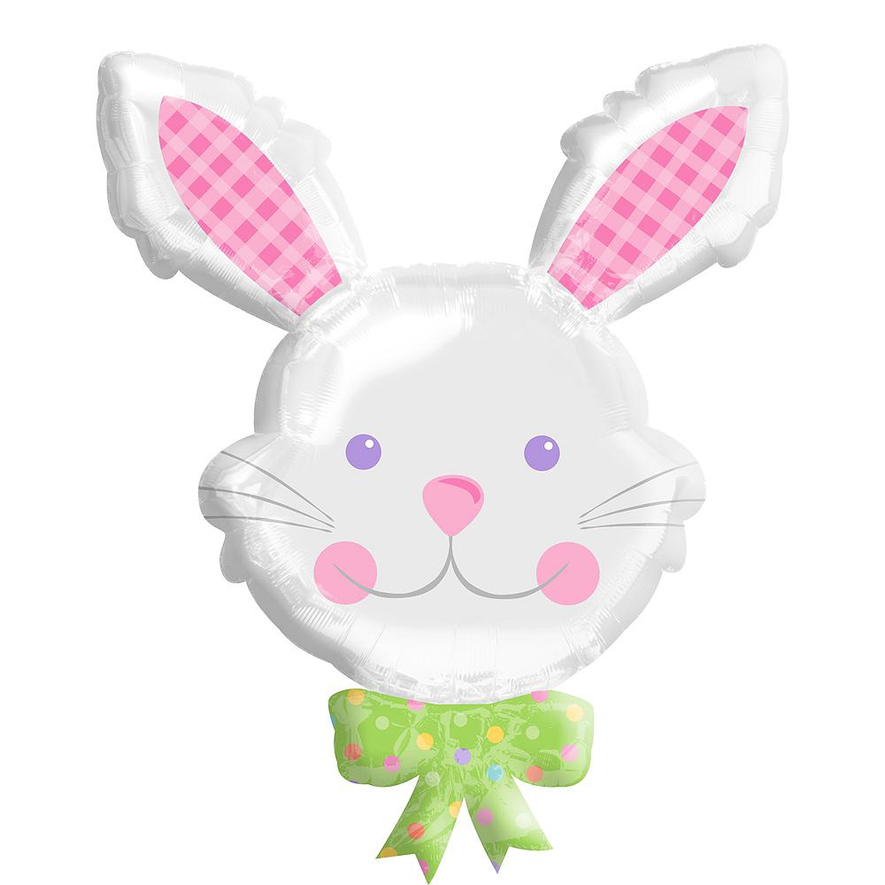 Giant Smiling Easter Bunny Balloon Image #1