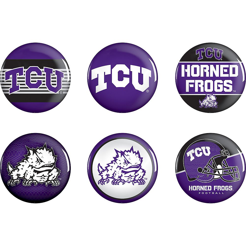 TCU Horned Frogs Buttons 6ct Image #1