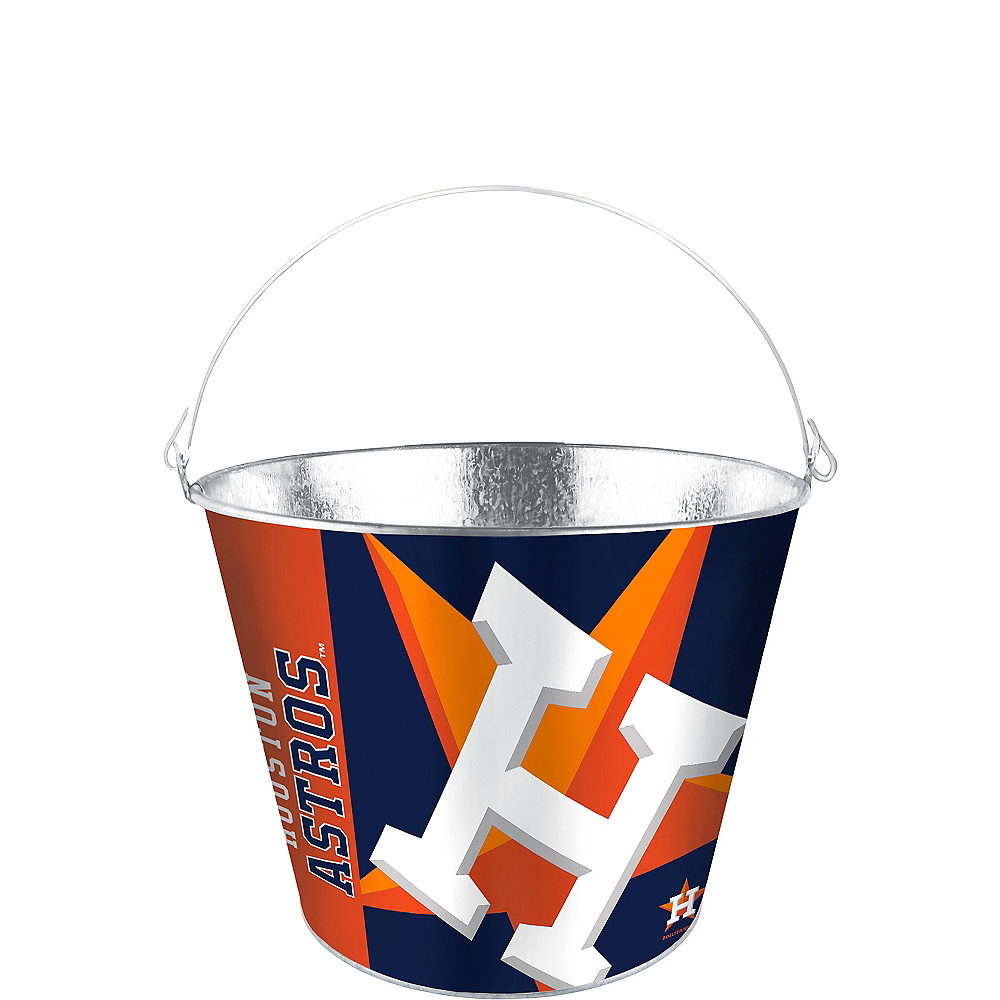 Houston Astros Galvanized Bucket Image #1