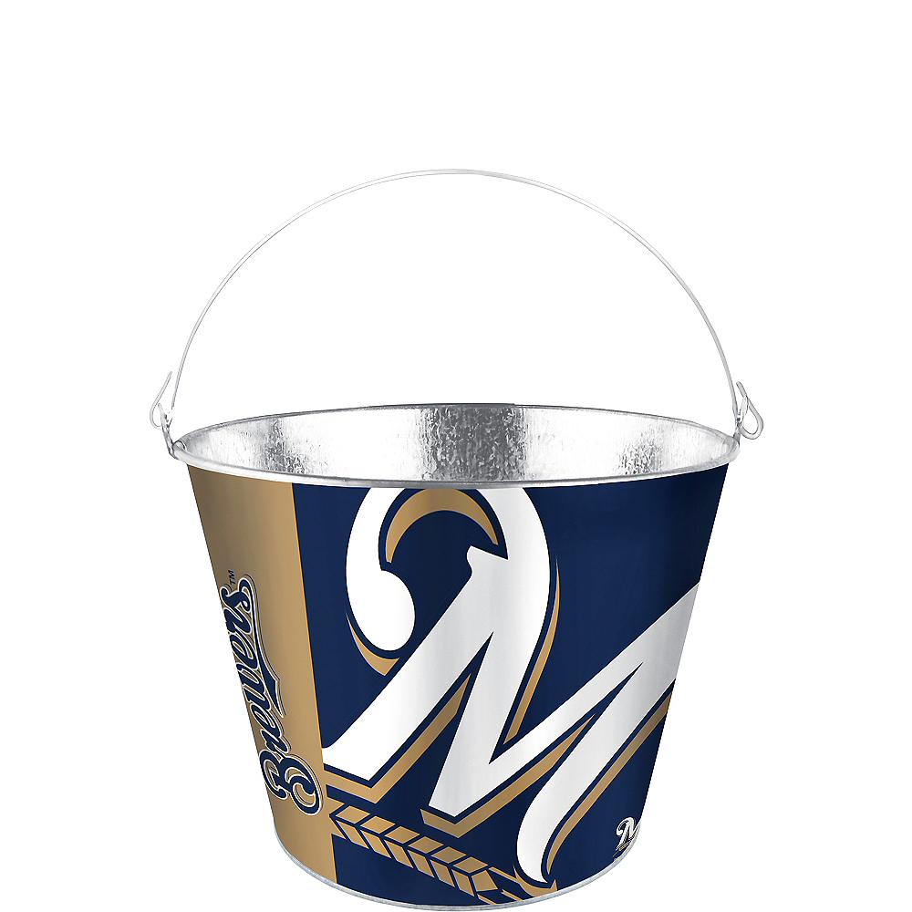 Milwaukee Brewers Galvanized Bucket Image #1