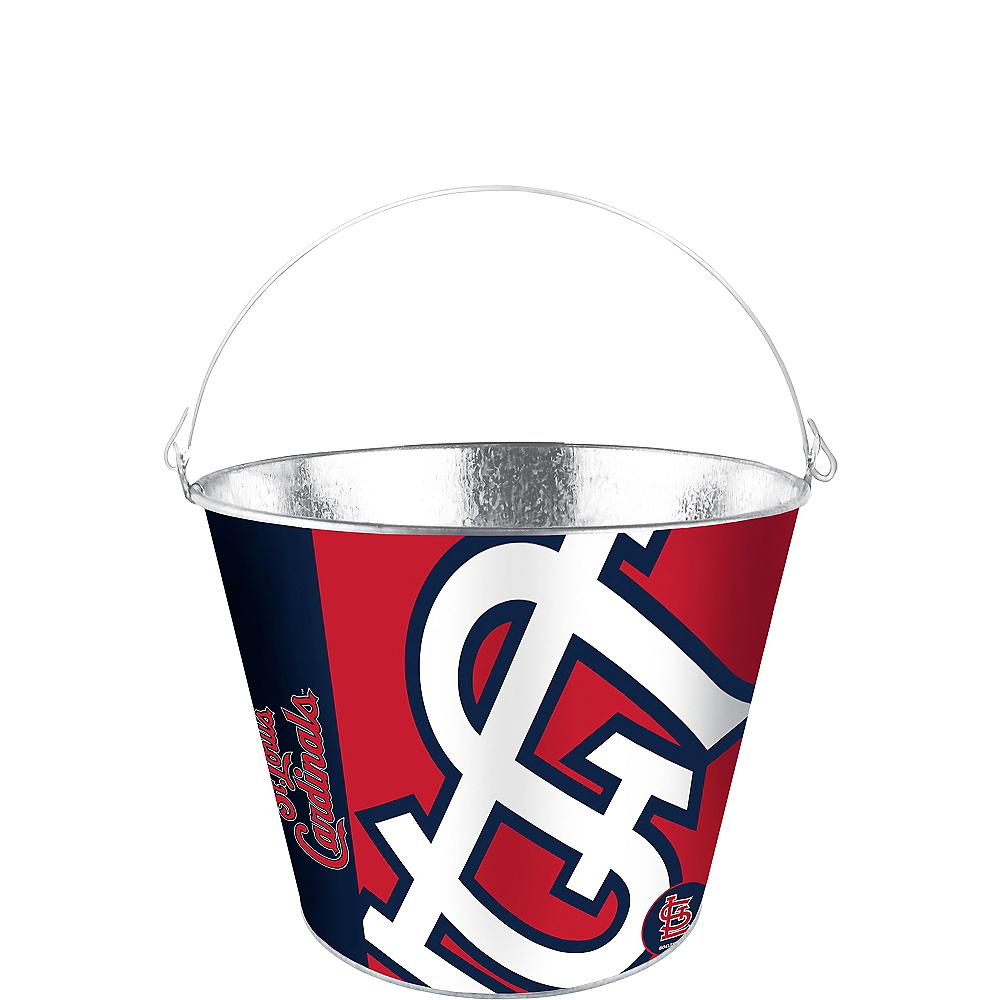 St. Louis Cardinals Galvanized Bucket Image #1