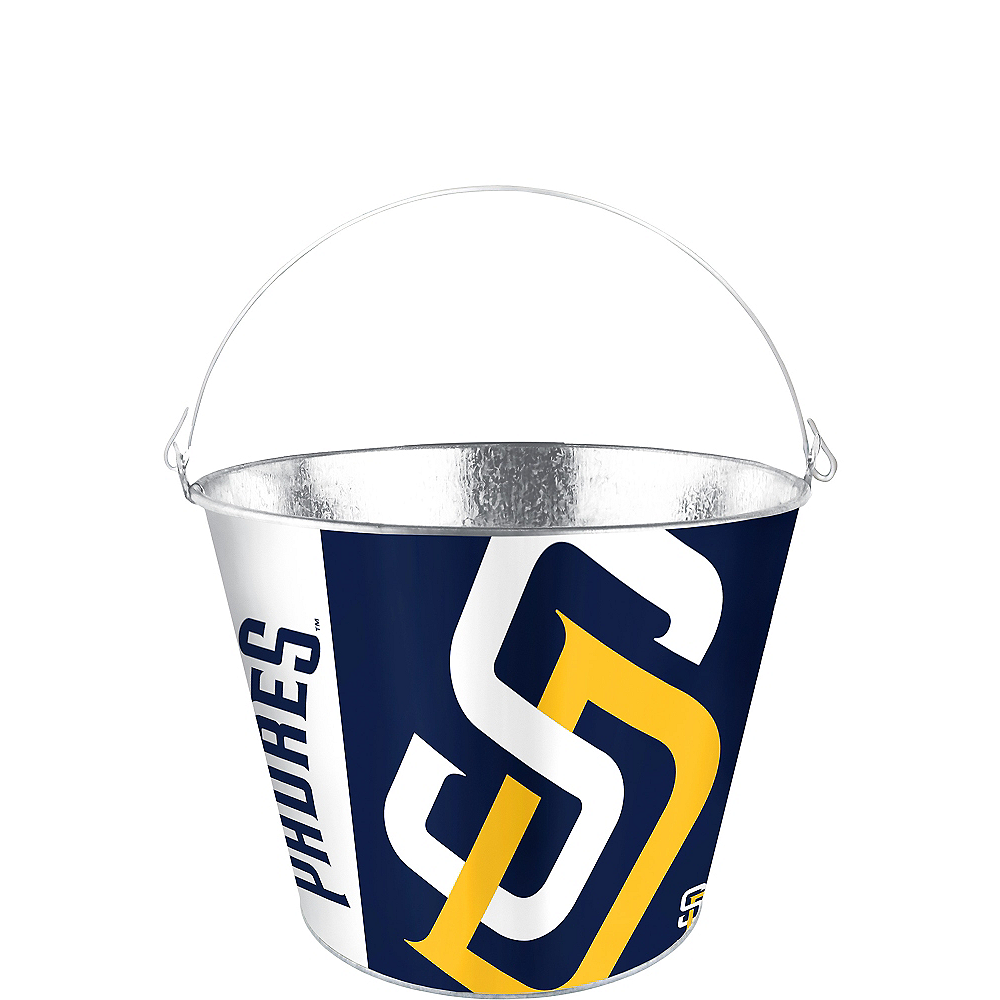 Nav Item for San Diego Padres Galvanized Bucket Image #1