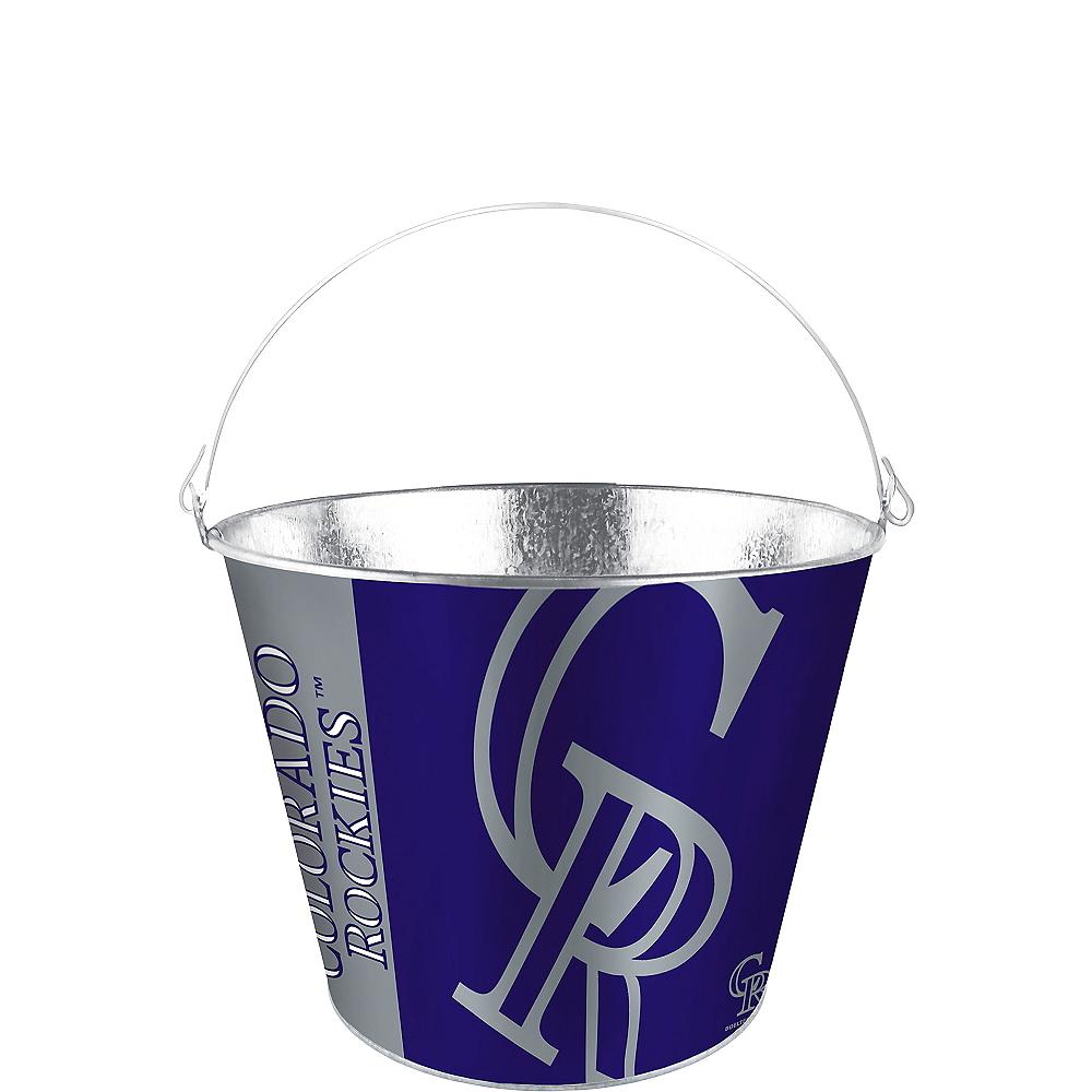 Colorado Rockies Galvanized Bucket Image #1