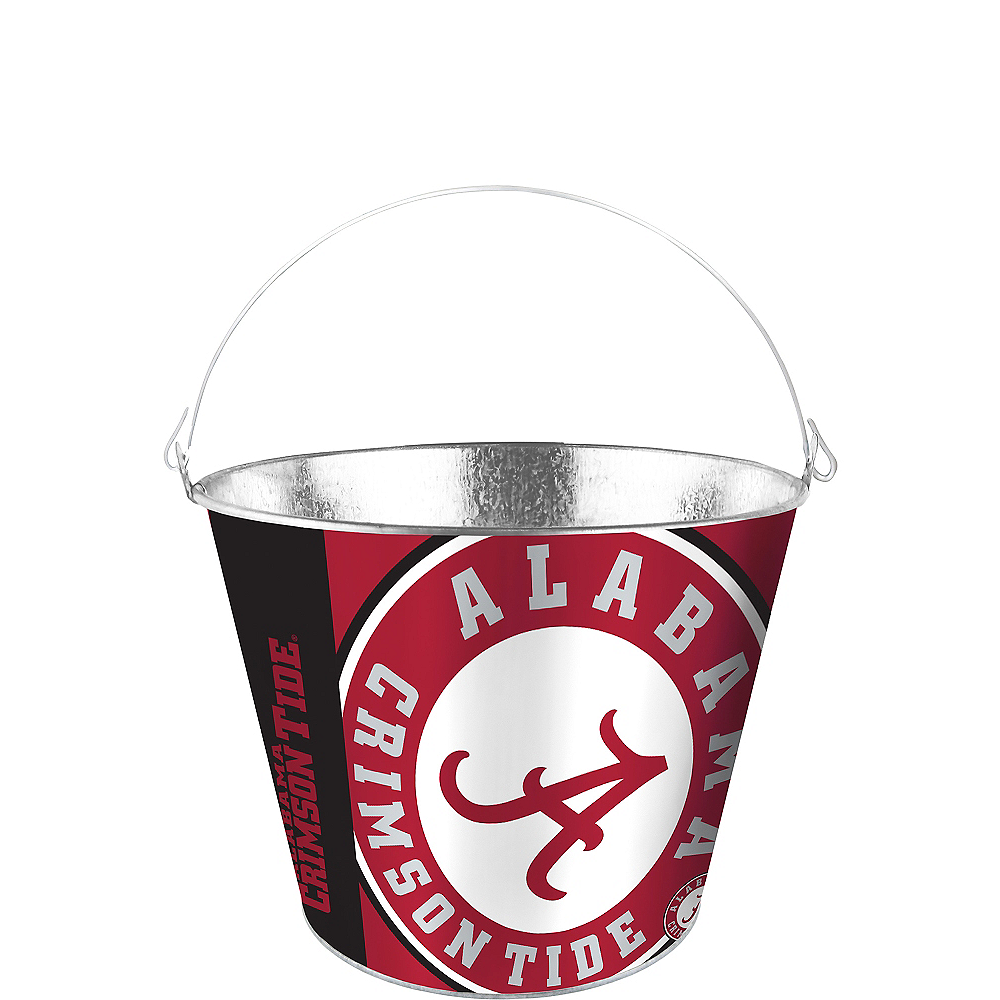 Alabama Crimson Tide Galvanized Bucket Image #1