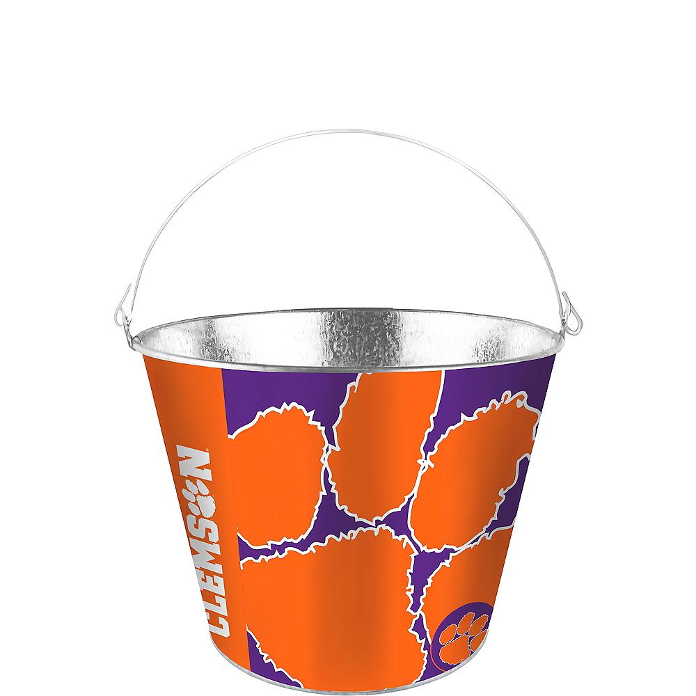 Clemson Tigers Galvanized Bucket Image #1