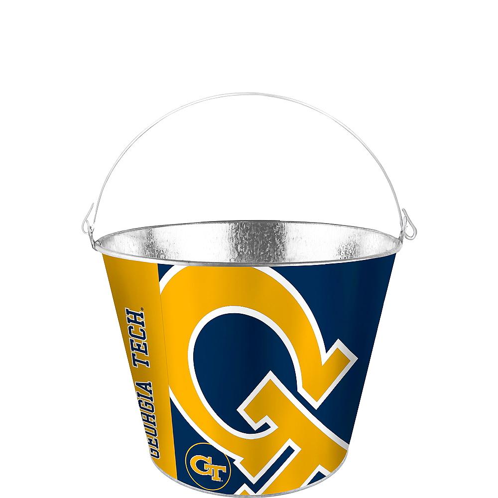 Georgia Tech Yellow Jackets Galvanized Bucket Image #1