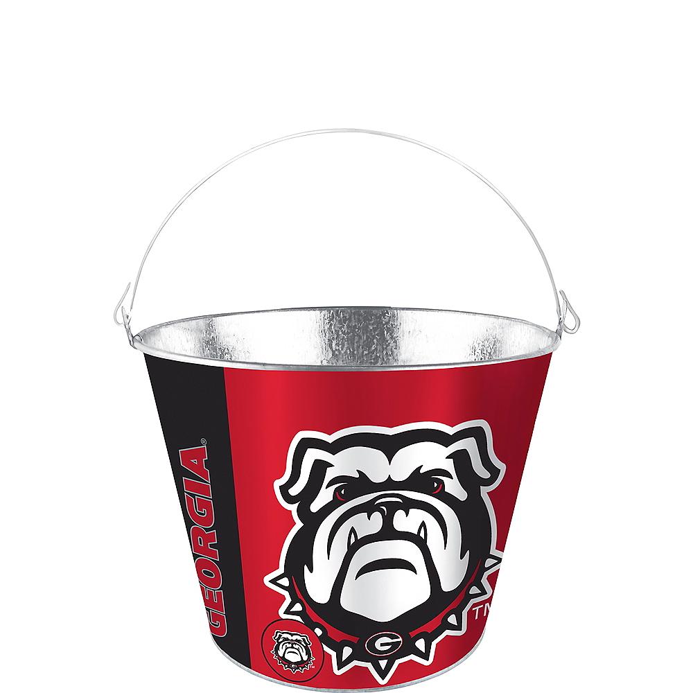 Georgia Bulldogs Galvanized Bucket Image #1