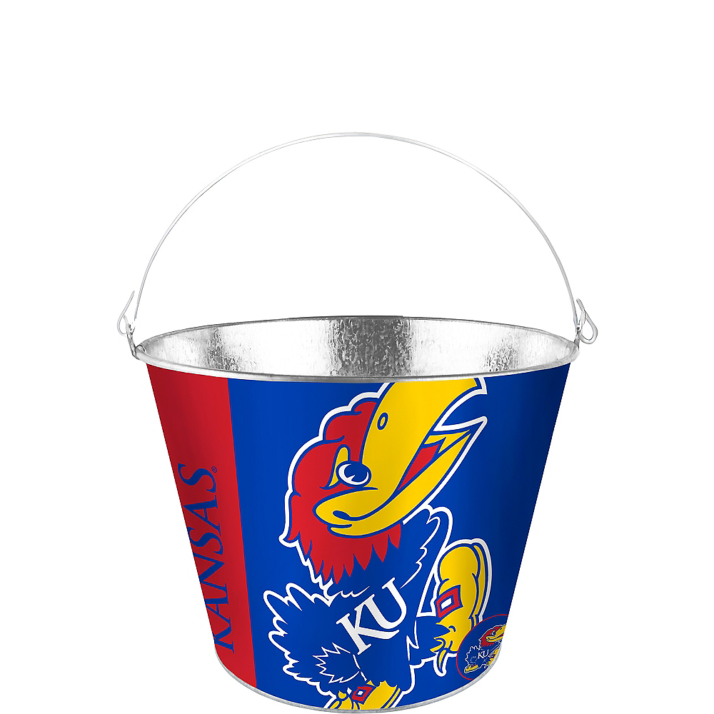 Nav Item for Kansas Jayhawks Galvanized Bucket Image #1