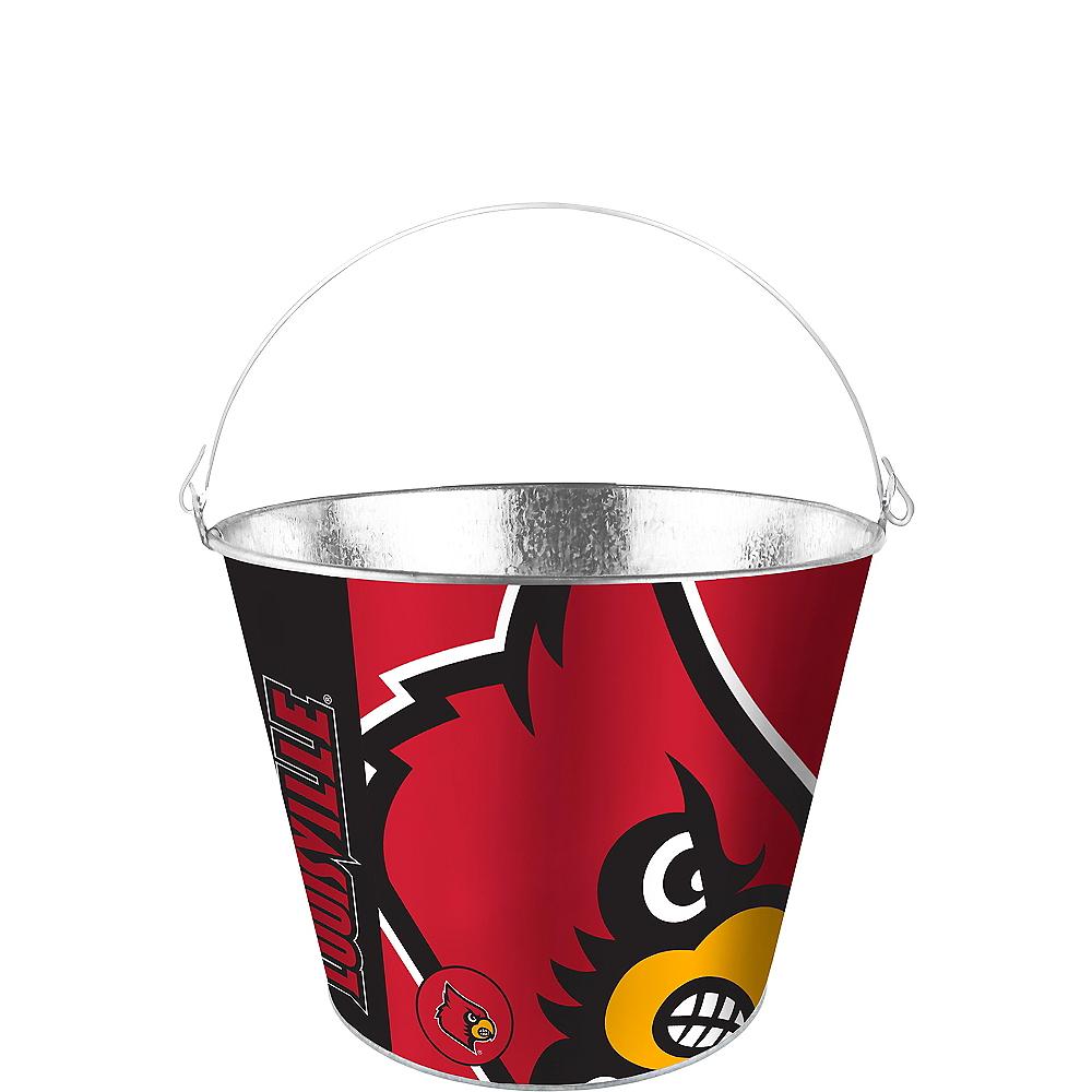 Louisville Cardinals Galvanized Bucket Image #1