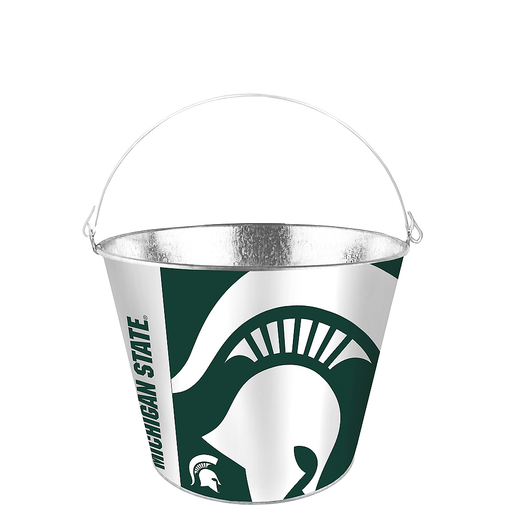 Nav Item for Michigan State Spartans Galvanized Bucket Image #1