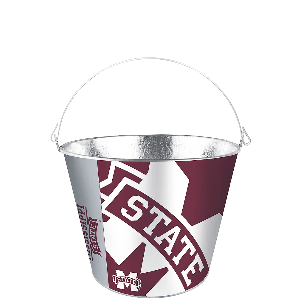 Mississippi State Bulldogs Galvanized Bucket Image #1