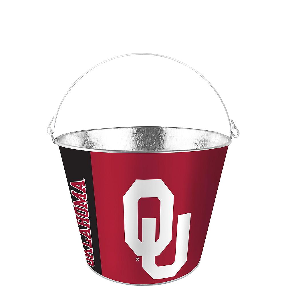 Oklahoma Sooners Galvanized Bucket Image #1