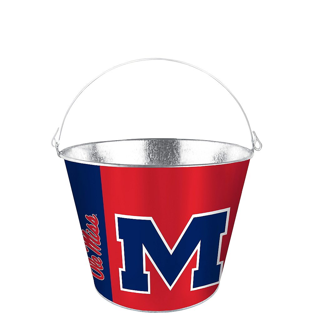 Ole Miss Rebels Galvanized Bucket Image #1
