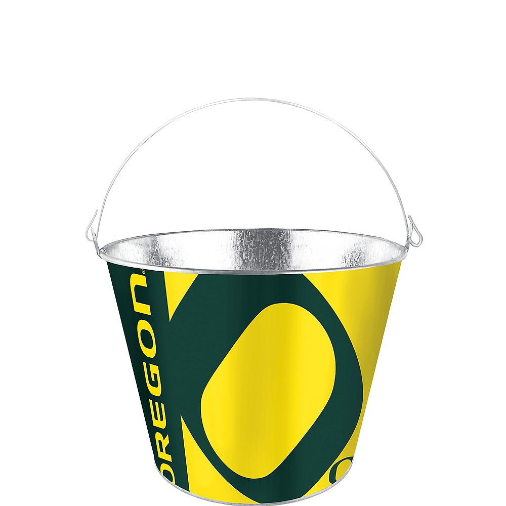 Oregon Ducks Galvanized Bucket Image #1