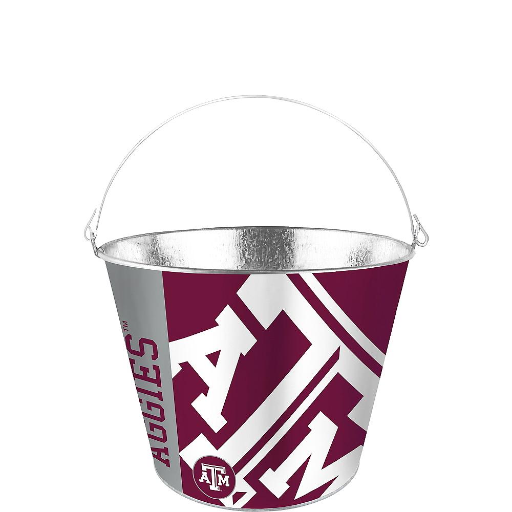 Texas A&M Aggies Galvanized Bucket Image #1