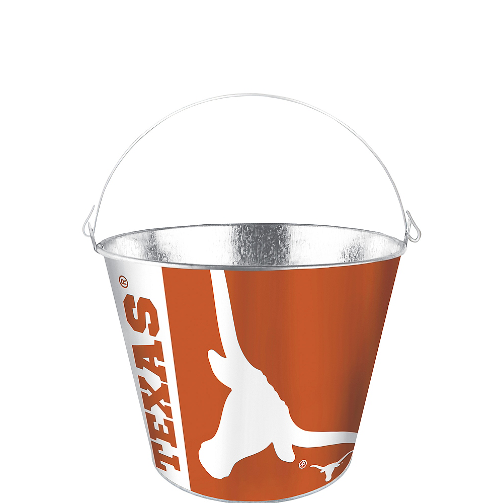 Texas Longhorns Galvanized Bucket Image #1
