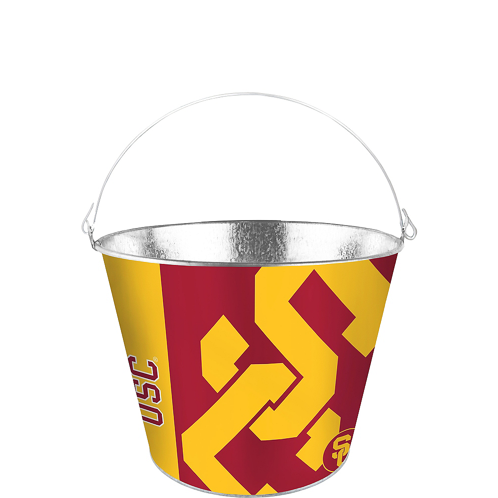 Nav Item for USC Trojans Galvanized Bucket Image #1