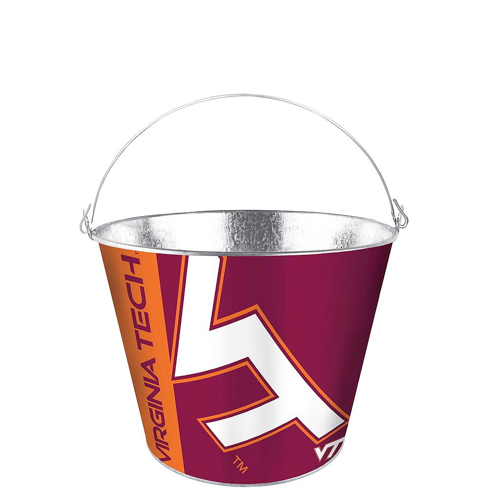 Virginia Tech Hokies Galvanized Bucket Image #1
