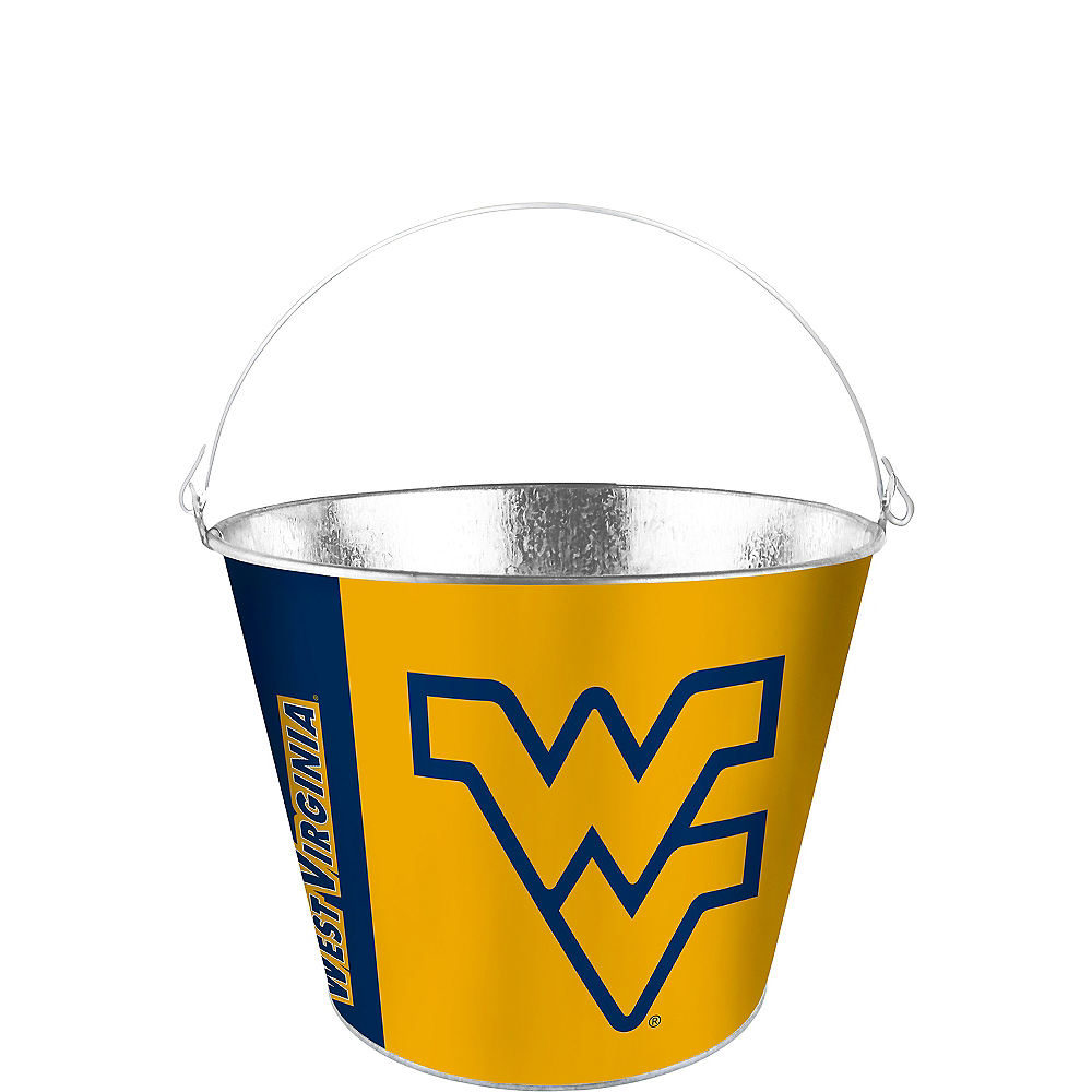 West Virginia Mountaineers Galvanized Bucket Image #1