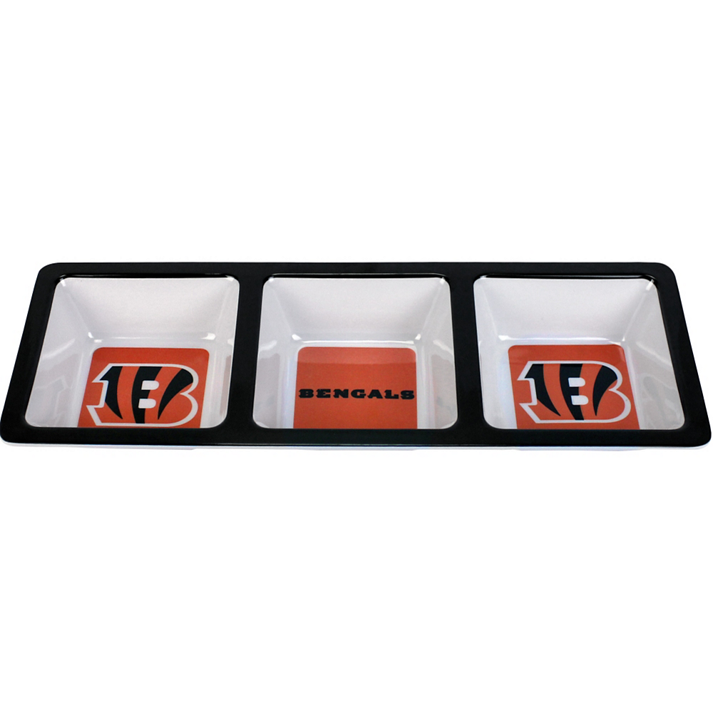 Cincinnati Bengals Divided Snack Tray Image #1