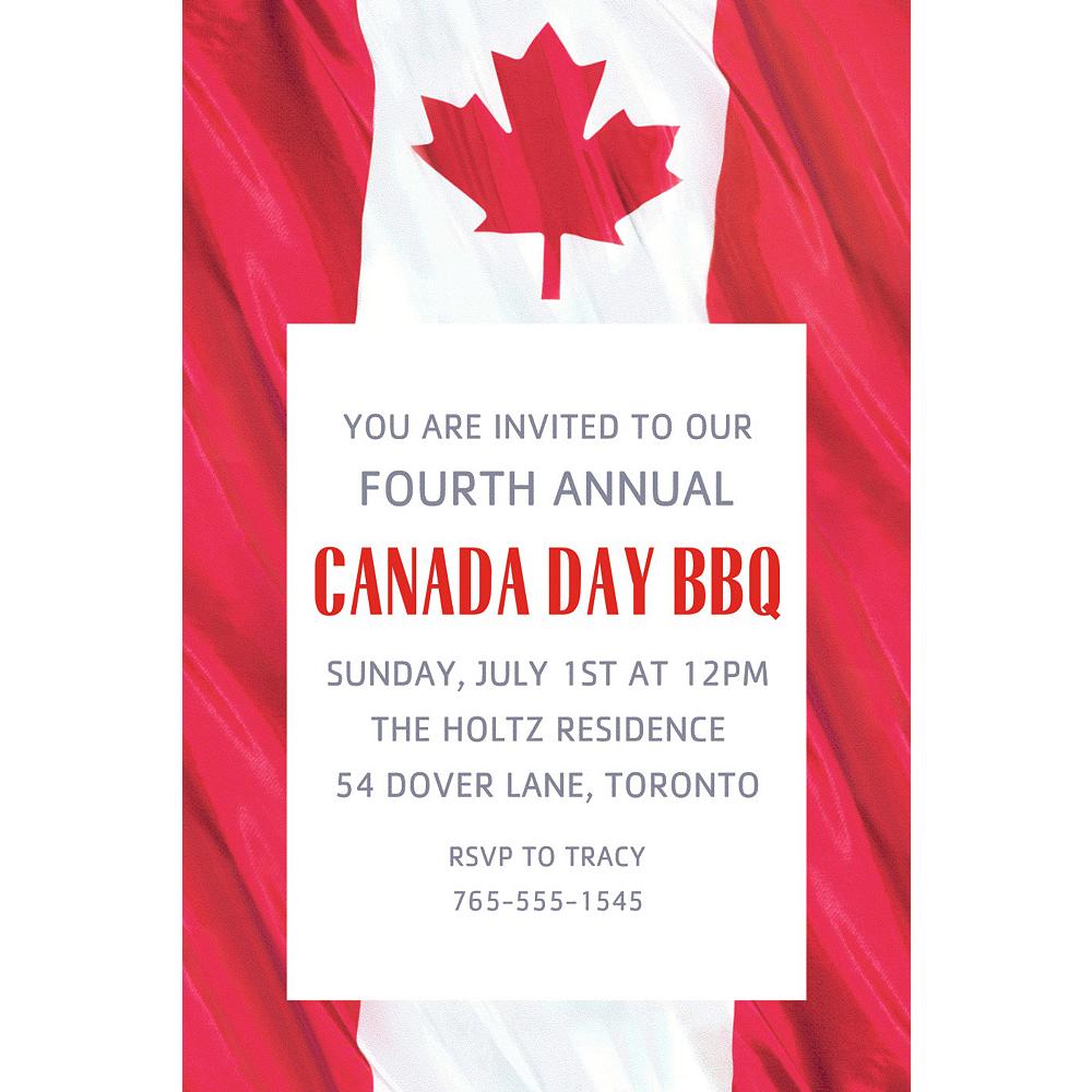 Custom Waving Canadian Flag Invitation Image #1