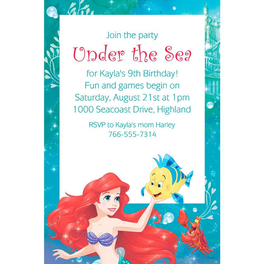 Custom Ariel Invitation Image 1