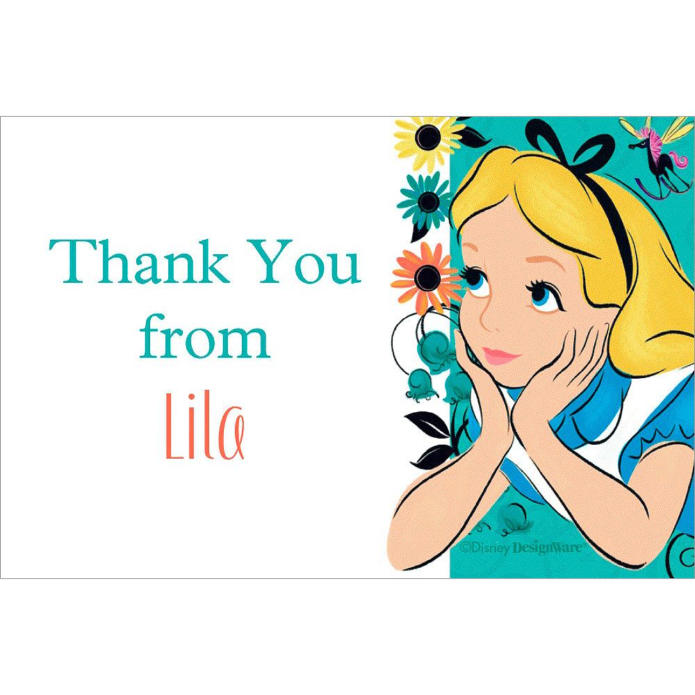 Custom Alice in Wonderland Thank You Note Image #1