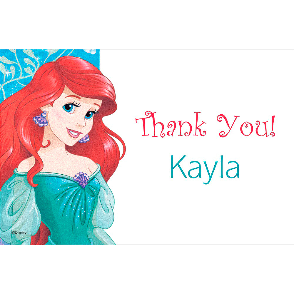 Custom Ariel Thank You Note  Image #1