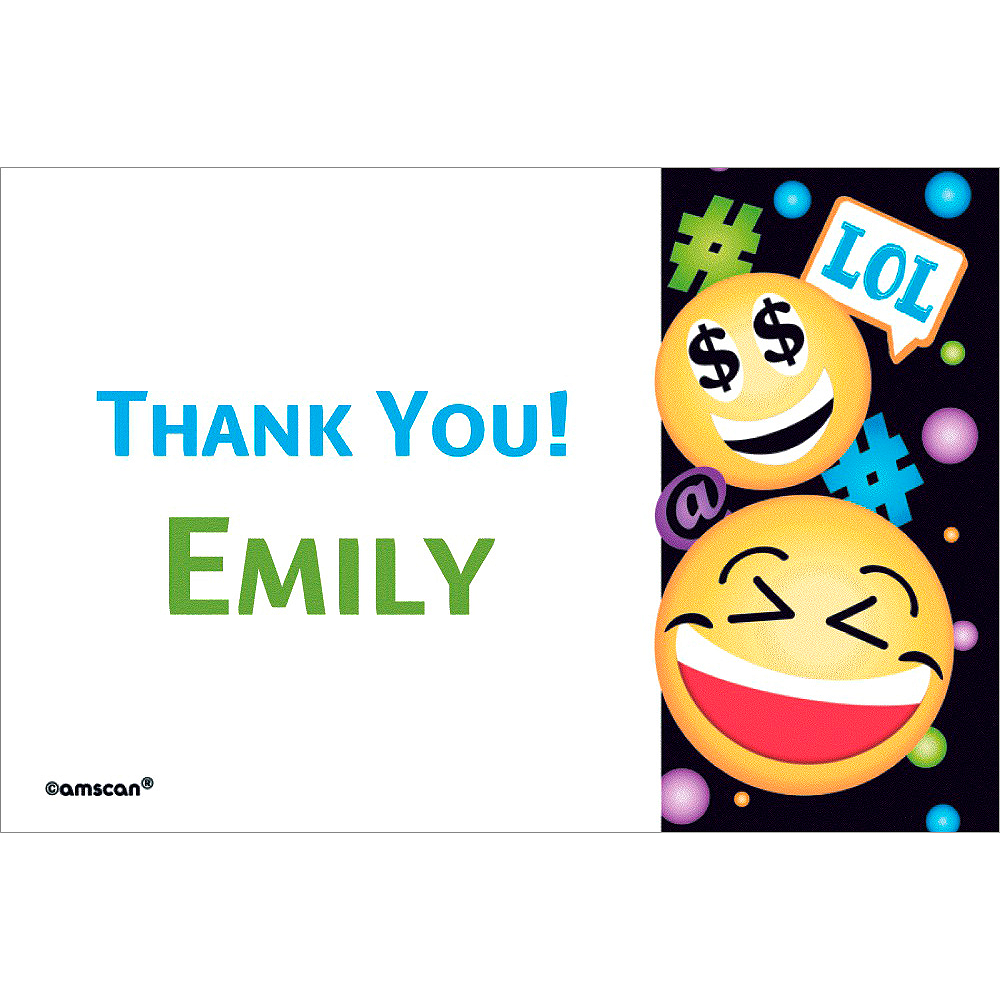 Custom Smiley Thank You Note Image #1